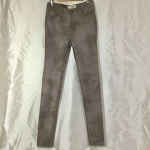 We The Free Faux Suede Skinny Jeans Size 24